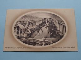 Exposition De Bruxelles - Intérieur De La Section Britannique ( Valentine ) 1910 ( Voir / Zie Photo ) ! - Expositions Universelles