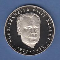 Medaille Bundeskanzler Willy Brandt 1913-1992.  - Entriegelungschips Und Medaillen