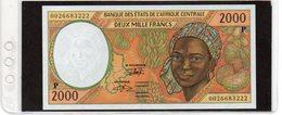 Banconota In Ottimo Stato Da 2000 Franchi - Ciad - 1993 - Banque Des Etats De L'Afrique Centrale - Tsjaad