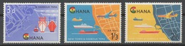Ghana 1962 Mi# 112-14** OPENING OF TEMA HARBOR - Ghana (1957-...)