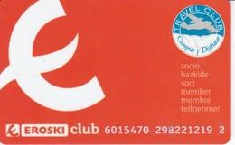 TARJETA DEL CLUB EROSKI (SUPERMERCADO) - Non Classés