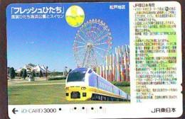 Carte Prépayée  Japon * TRAIN * JR * IO * CARD * (4889) Japan Prepaid Card * ZUG * Karte * TREIN * IO * - Trains