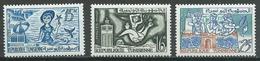 Tunisie YT N°480-481-484 Série Courante Neuf ** Et Neuf/charnière * - Tunisie (1956-...)