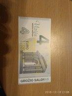 LITHUANIA 4 EURO Discount Coupon For Haircut At Vizija, UNC - Lituanie