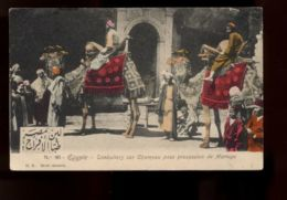 B9501 EGYPTE EGYPT - PEOPLE FOLKLORE - TIMBALIERS SUR CHAMEAU POUR PROCESSION DE MARIAGE - Persone