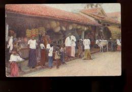 B9513 SRI LANKA CEYLON - NATIVE BOUTIQUE OR SHOP - NEDERLANDESE STAMPS ON THE BACK CIRC. 1922 - Sri Lanka (Ceylon)