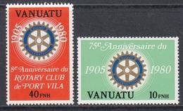 Vanuatu 1980 - 75th Anniversary Of Rotary International, French Version - Mi 589-590 ** MNH - Vanuatu (1980-...)