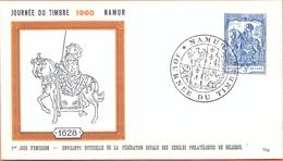 Belgium BELGIUM FDC 20/03/1960 COB 1121 JOURNEE DU TIMBRE DAG VAN DE POSTZEGEL  Fine Cancel Namur - FDC