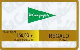 TARJETA DE REGALO DE EL CORTE INGLES DE 150€ (GIFT CARD-CADEAU) - Tarjetas Telefónicas