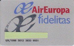 TARJETA DE LA COMPAÑIA AEREA AIR EUROPA (PLANE-AEROPLANE) - Avions