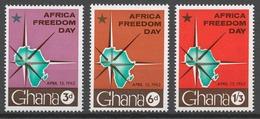 Ghana 1962 Mi# 118-20** AFRICA FREEDOM DAY - Ghana (1957-...)