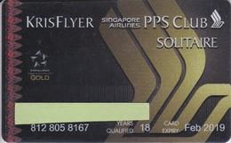TARJETA DE LA COMPAÑIA AEREA SINGAPORE AIRLINES - KRIS FLYER  (PLANE-AEROPLANE) - Avions