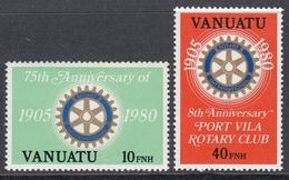Vanuatu 1980 - 75th Anniversary Of Rotary International, English Version - Mi 587-588 ** MNH - Vanuatu (1980-...)