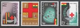 Ghana 1963 Mi# 145-48** RED CROSS - Ghana (1957-...)