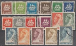 SURINAM - 1936-41 Part Set Of Ships And Queen Wilhelmina, Between Scott 142-160. Mixed Mint And Used - Surinam ... - 1975