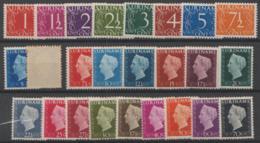 SURINAM - 1948 Numerals And Queen Wilhelmina. Scott 211-233. Mint Light Hinge - Surinam ... - 1975