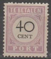 SURINAM - 1896 40c Postage Due. Scott J14. Mint No Gum - Surinam ... - 1975