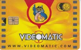TARJETA CON CHIP DE VIDEOMATIC BUHO PEQUEÑO, OWL, CHOUETTE  (CHIP, PUCE) VIDEO TOSSA - Non Classés