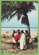 Belle CPSM Pecheur Cote D' Ivoire Animé Metier - Ivory Coast