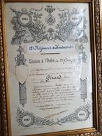 12e Regiment De Hussards - Citation A L'ordre Du 2e Groupe - 14-18 - Documents