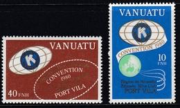 Vanuatu 1980 - Kiwanis International Convention, French Version - Mi 593-594 ** MNH - Vanuatu (1980-...)