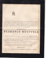 MUYZEN MUYSEN Florence MEUFFELS 55 Ans En 1885 Faire-part Dès - Décès