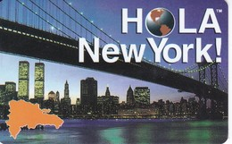 TARJETA DE REPUBLICA DOMINICANA DE HOLA NEW YORK $50 (TORRES GEMELAS) - Dominicaine