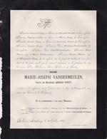 DOLHAIN  LIMBOURG Marie-Joseph VANDERMEULEN Veuve Arnold TOUPY 62 Ans 1885 Famille GILLIS COUNET - Décès