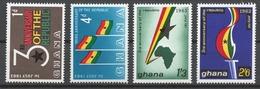 Ghana 1963 Mi# 149-52** 3rd ANNIVERSARY OF THE REPUBLIC - Ghana (1957-...)