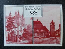 SAINTE LUCE Sur Loire HERZOGENAURACH JUMELAGE 9 Avril 1988 Cachet Poste - Otros Municipios