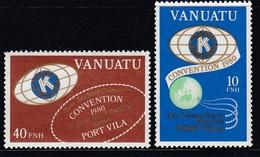 Vanuatu 1980 - Kiwanis International Convention, English Version - Mi 591-592 ** MNH - Vanuatu (1980-...)