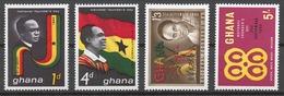 Ghana 1963 Mi# 153-56** NATIONAL FOUNDER'S DAY - Ghana (1957-...)