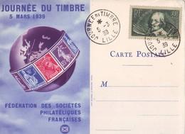 320 H  Journée Du Timbre Lille 1939  Très Bel état - Journée Du Timbre