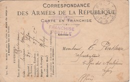 Carte Franchise Militaire FM / 1915 / Cachet Ovale Franchise Postale / - 1914-18