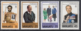 Vanuatu 1981 - The 60th Anniversary Of The Birth Of Prince Philip, Duke Of Edinburgh - Mi 602-605 ** MNH - Vanuatu (1980-...)