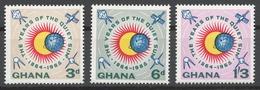 Ghana 1964 Mi# 170-72** INTERNATIONAL QUIET SUN YEAR - Ghana (1957-...)