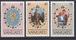 Vanuatu 1981 - Royal Wedding: Diana And Charles - Mi 606-608 ** MNH - Vanuatu (1980-...)