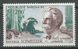 Gabon Poste Aérienne YT N°1 Docteur Albert Schweitzer Neuf/charnière * - Gabon (1960-...)