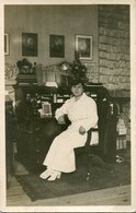 MUJER VESTIDA DE BLANCO YOUNG WOMAN WITH WHITE CLOTHES OLD FASHION MODA ANTIGUA CIRCA 1930 POSTAL POST CARD -LILHU - Mode