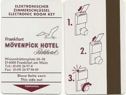 Deutschland / Germany Hotelkarte Keycard Vom Parkhotel Mövenpick In Frankfurt - Cartes D'hotel