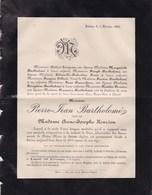 SAIVE Région De Herve Pierre-Jean BARTHOLOME Veuf HENRION 84 Ans 1886 Famille GROSJEAN DEVOS - Décès