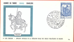Belgium BELGIUM FDC 20/03/1960 COB 1121 JOURNEE DU TIMBRE DAG VAN DE POSTZEGEL  Fine Cancel Charlerroi - FDC
