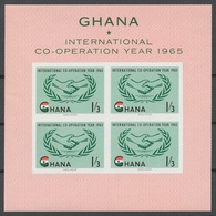 Ghana 1965 Mi# 206-09+ Bl.16** INTERNATIONAL COOPERATION YEAR - Ghana (1957-...)