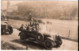 Automobile Lourdes 1928 Grotte De Betharam  - Carte Photo Autobus ? - Taxis & Fiacres