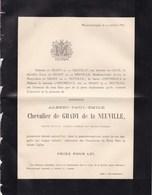 WIMMERTINGEN Albert Chevalier De GRADY De La NEUVILLE époux Baronne De CECIL 47 Ans 1885 - Décès