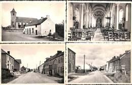 Thuillies - Lot 4 Cartes (Eglise, Rue De La Victoire, Nels) - Thuin