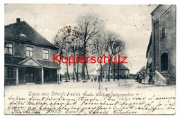 Dömitz 1903, Festungsplatz - Nach Obersdorf, Garmisch, Schönberg In Tirol  ... Irrläufer ! - Dömitz