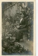 MUJER VESTIDA DE NEGRO MODA ANTIGUA / YOUNG WOMAN WITH BLACK CLOTHES OLD FASHION / CIRCA 1930 POSTAL POST CARD -LILHU - Mode