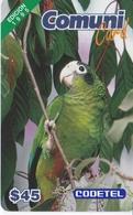 TARJETA DE REP. DOMINICANA DE 45$ DE UN LORO EDICION 1995 (LORO-PARROT) CODETEL - Oiseaux