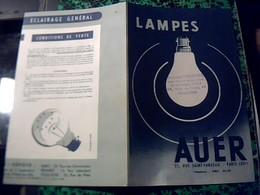 Publicité  Lampes AUER  S.F.A. Rue St Fargeau Paris Annee 40/50 Maurice Courtial Revendeur A Toulouse - Advertising